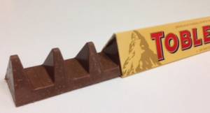 The new UK Toblerone bar contains 10% less chocolate in the same size package